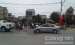 Tai nạn liên hoàn tại nút giao cắt đèn đỏ, ba xe hư hỏng nặng