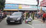 Dựng hiện trường vụ tai nạn người chồng quẹt xe vợ