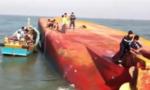 Đã giải cứu được một thuyền viên trên tàu chìm ở luồng Soài Rạp