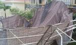 Gió lớn làm sập mái trường học, 9 học sinh bị thương