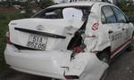 Tai nạn va chạm mạnh giữa xe tải và xe taxi