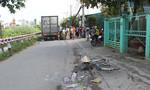 Đi chợ về, một phụ nữ bị xe tải cán chết