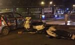 Tông hàng loạt xe máy, tài xế taxi nhảy xuống cầu tự tử