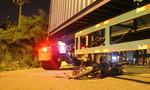 Xe máy va chạm với xe container, nam thanh niên bị cuốn vào gầm