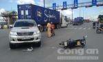 Ô tô tông xe máy trên xa lộ, 1 người nhập viện
