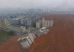 Lở núi kinh hoàng tại Thâm Quyến, nhiều toà nhà bị sập