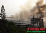 Hình ảnh vụ cháy cơ sở bông vải ở Bình Chánh