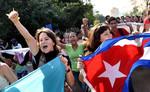 Dân Cuba ra đường mừng sự kiện lịch sử