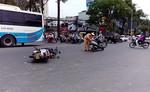 Va chạm 2 xe máy, một người nhập viện cấp cứu