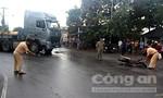 Chạy vào đường cấm, xe container gây tai nạn
