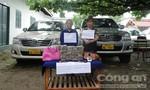Hai nữ quái vận chuyển 41 bánh heroin, đâm nát đầu xe cảnh sát