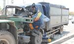 Tài xế container đưa tài xế xe tải đi cấp cứu sau tai nạn