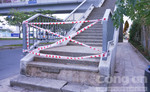 Nứt lún nghiêm trọng trên đường Võ Văn Kiệt