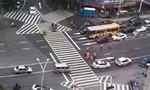 Vạch giao thông khiến du khách hoa mắt