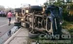 Bốn xe ô tô tông liên hoàn, một người chết, một xe tải bốc cháy