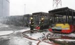 Cháy lớn ở bến xe buýt, nhân viên bến xe buýt tử nạn
