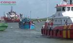 Cứu hộ tàu cá cùng 9 ngư dân gặp nạn về đất liền an toàn