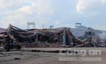 Cháy công ty gỗ xuất khẩu rộng hàng nghìn mét vuông