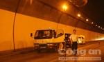 Giao thông ùn tắc, do nhiều xe tông nhau ở hầm Hải Vân