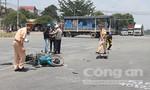 Xe khách húc xe máy ở ngã tư, 1 người tử vong