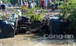 Tàu hỏa tông nát xe ben, tài xế bay khỏi cabin thoát chết