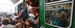 Người di tản tranh nhau lên xe lửa đi Đức