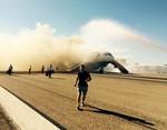 Máy bay đột nhiên bốc cháy khi chuẩn bị cất cánh