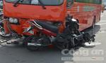 Hình ảnh từ hiện trường xe khách Phương Trang cuốn 7 xe máy trên cầu vượt Cây Gõ
