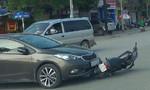 Ôtô tông xe máy, một người nhập viện