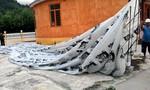 Quả cầu lạ rơi xuống nhà dân có thể của Lào