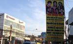 Loạn banner quảng cáo trên đường