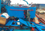 Ngay ngày đầu năm, tàu cá của ngư dân Quảng Ngãi bị đâm chìm trên biển