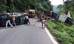 Container và ô tô va chạm, nhiều người thoát chết