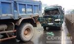 5 xe tải va chạm liên hoàn trên quốc lộ 1A, giao thông ùn tắc kéo dài hàng giờ