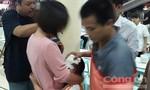 Bé trai bị khách nhậu ném bát vỡ đầu nhập viện cấp cứu