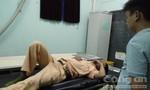 Chiến sỹ CSGT bị xe máy lao thẳng vào người khi làm nhiệm vụ