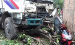 Xe tải chở bia lao vào nhà dân ở Bình Dương