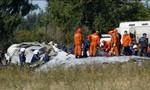 Máy bay quân sự rơi tại Nga, nhiều người may mắn sống sót