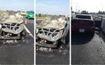 Cháy xe ô tô trên cao tốc TP.HCM - Long Thành - Dầu Giây