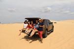 Thú vị du lịch đồi cát trắng tại Hòn Rơm, Bình Thuận