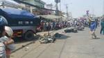 Xe ben lao vào chợ tự phát, hai người tử vong tại chỗ
