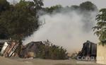 Hơn 1000 m2 nhà xưởng nệm mút bị lửa thiêu rụi