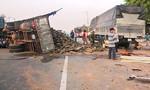 Xe tải tông nhau, 2 người chết, 4 người bị thương