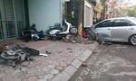 Clip xe ô tô tông chết 3 người ở Hà Nội