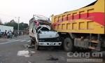 Xe tải đổ dốc tốc độ cao, đâm vào xe ben khiến 3 người thương vong