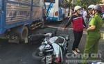 Xe tải mất thắng khi đổ dốc, tông nhiều phương tiện