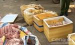 Bắt quả tang xe tải chở gần nửa tấn thịt heo bốc mùi