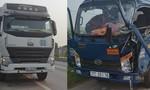 Chạy với tốc độ cao, xe ô tô tải móp đầu khi tông container