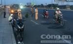 Hai xe máy va chạm trên cầu Đồng Nai, một người nhập viện