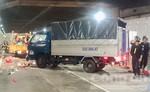 Clip xe tải tông 5 công nhân trong hầm Thủ Thiêm